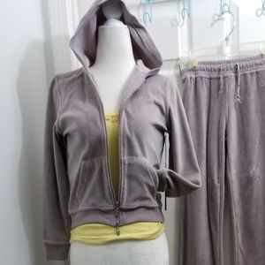 BCBG MaxAzria Jacket, Velour Track Suit ½, $69/set
